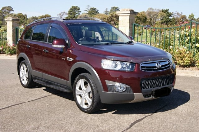 Used Holden Captiva CG MY13 7 LX (4x4), 2013 Holden Captiva CG MY13 7 LX (4x4) Burgundy 6 Speed Automatic Wagon