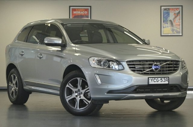 Used Volvo XC60 DZ MY14 D4 Geartronic Luxury, 2014 Volvo XC60 DZ MY14 D4 Geartronic Luxury Silver 6 Speed Sports Automatic Wagon
