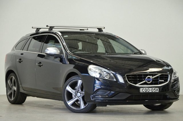Used Volvo V60 F Series MY15 T5 Geartronic Luxury, 2014 Volvo V60 F Series MY15 T5 Geartronic Luxury Black 8 Speed Sports Automatic Wagon