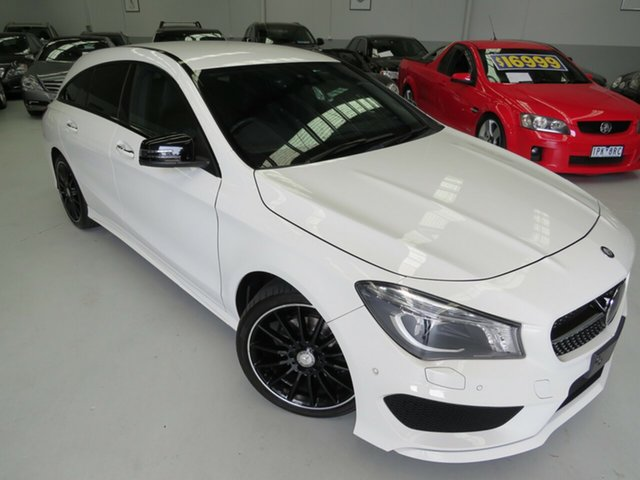 Used Mercedes-Benz CLA-Class X117 CLA200 Shooting Brake DCT, 2015 Mercedes-Benz CLA-Class X117 CLA200 Shooting Brake DCT Polar White 7 Speed