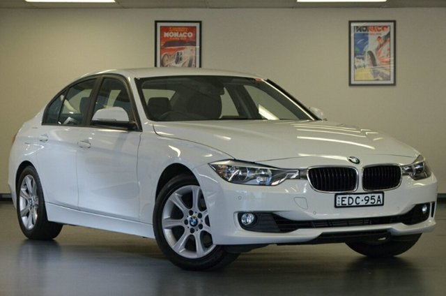 Used BMW 320i F30 MY0813 320i, 2013 BMW 320i F30 MY0813 320i White 8 Speed Sports Automatic Sedan