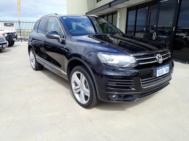 Used Volkswagen Touareg 7P MY15 V8 TDI Tiptronic 4MOTION R-Line, 2014 Volkswagen Touareg 7P MY15 V8 TDI Tiptronic 4MOTION R-Line Black Magic 8 Speed Sports Automatic
