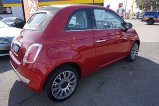 2010 Fiat 500C Series 1 Dualogic Pasodoble Red 5 Speed Sports Automatic Single Clutch Convertible
