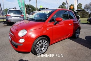 2010 Fiat 500C Series 1 Dualogic Pasodoble Red 5 Speed Sports Automatic Single Clutch Convertible.