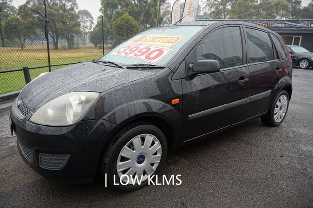 Used Ford Fiesta WS CL, 2008 Ford Fiesta WS CL Panther Black 5 Speed Manual Hatchback