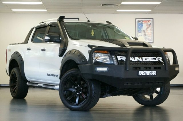 Used Ford Ranger PX Wildtrak Double Cab, 2013 Ford Ranger PX Wildtrak Double Cab White 6 Speed Sports Automatic Utility