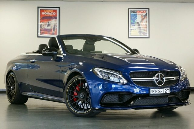 Used Mercedes-Benz C-Class A205 807+057MY C63 AMG SPEEDSHIFT MCT S, 2017 Mercedes-Benz C-Class A205 807+057MY C63 AMG SPEEDSHIFT MCT S Brilliant Blue 7 Speed