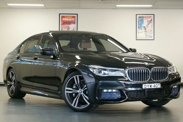 Used BMW 7 Series G11 730d Steptronic, 2016 BMW 7 Series G11 730d Steptronic Black 8 Speed Sports Automatic Sedan