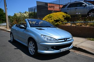 2006 Peugeot 206 CC Silver 5 Speed Manual Cabriolet.