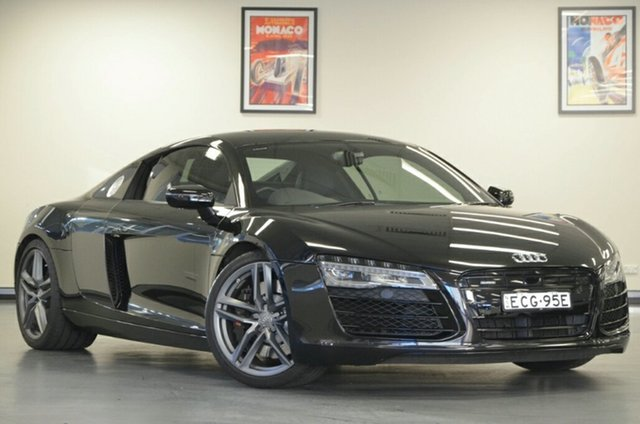 Used Audi R8 MY13 S Tronic Quattro, 2013 Audi R8 MY13 S Tronic Quattro Black 7 Speed Sports Automatic Dual Clutch Coupe