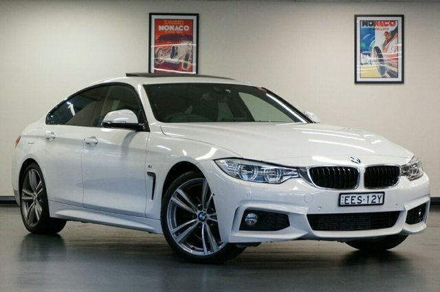 Used BMW 4 Series F36 428i Gran Coupe M Sport, 2015 BMW 4 Series F36 428i Gran Coupe M Sport White 8 Speed Sports Automatic Hatchback