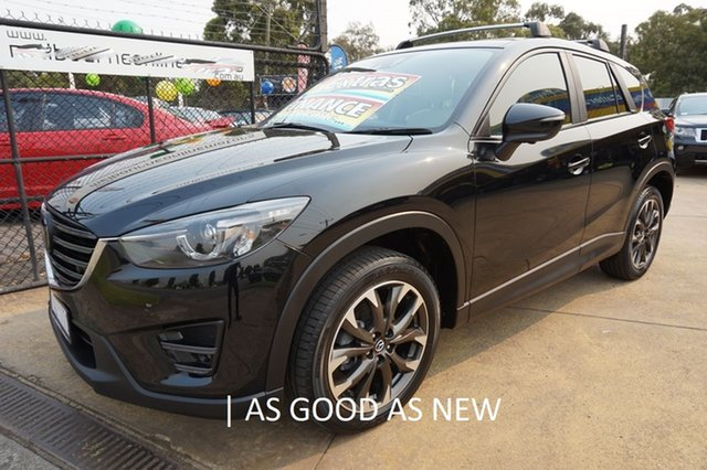 Used Mazda CX-5 KE1032 Akera SKYACTIV-Drive AWD, 2015 Mazda CX-5 KE1032 Akera SKYACTIV-Drive AWD Jet Black 6 Speed Sports Automatic Wagon