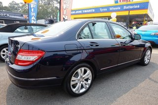 2008 Mercedes-Benz C-Class W204 C220 CDI Avantgarde Tanzanite Blue 5 Speed Automatic Sedan