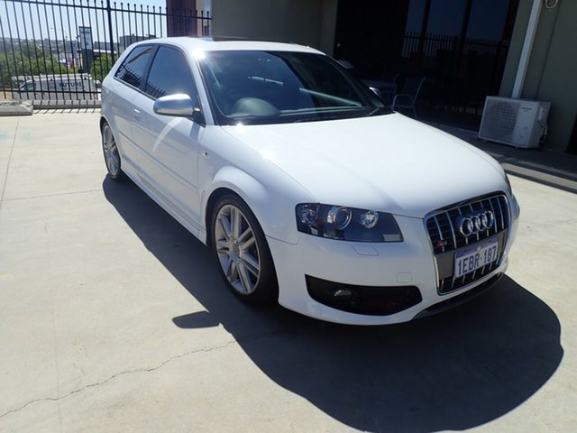Used Audi S3 8P MY09 Quattro, 2008 Audi S3 8P MY09 Quattro White Silk 6 Speed Manual Hatchback