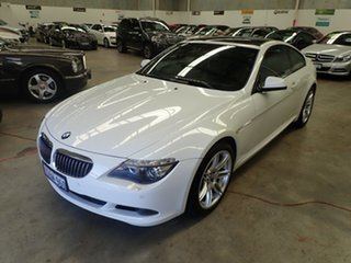 2010 BMW 6 Series E63 MY10 650i Steptronic Sport White Satin 6 Speed Sports Automatic Coupe.