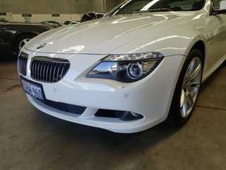 2010 BMW 6 Series E63 MY10 650i Steptronic Sport White Satin 6 Speed Sports Automatic Coupe