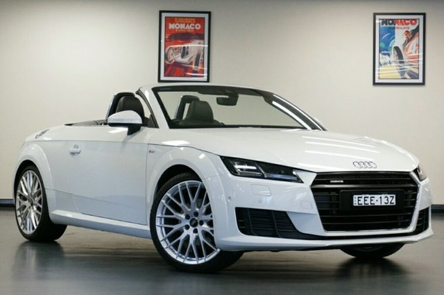 Used Audi TT FV MY16 S Line S Tronic Quattro, 2015 Audi TT FV MY16 S Line S Tronic Quattro White 6 Speed Sports Automatic Dual Clutch Roadster