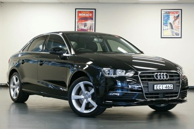 Used Audi A3 8V MY15 Ambition S Tronic, 2014 Audi A3 8V MY15 Ambition S Tronic Black 7 Speed Sports Automatic Dual Clutch Sedan