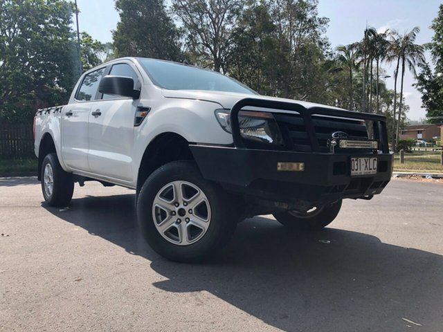 Used Ford Ranger PX XL 2.2 (4x4), 2013 Ford Ranger PX XL 2.2 (4x4) White 6 Speed Manual Crew Cab Utility