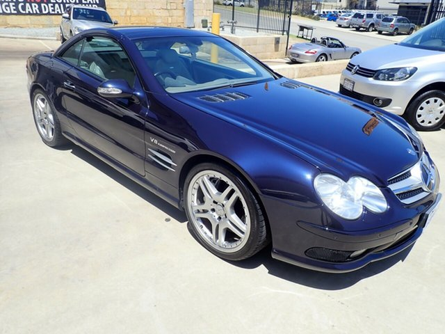 Used Mercedes-Benz SL55 AMG R230 , 2003 Mercedes-Benz SL55 AMG R230 Macao Blue 5 Speed Auto Touchshift Convertible