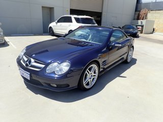 2003 Mercedes-Benz SL55 AMG R230 Macao Blue 5 Speed Auto Touchshift Convertible.