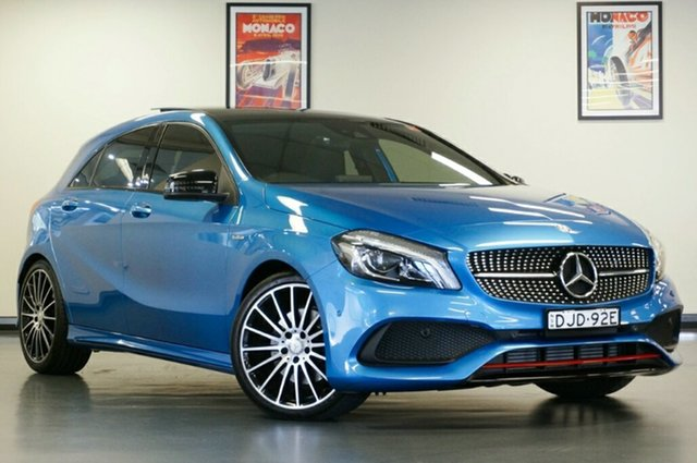 Used Mercedes-Benz A-Class W176 807MY A250 D-CT 4MATIC Sport, 2016 Mercedes-Benz A-Class W176 807MY A250 D-CT 4MATIC Sport Blue 7 Speed