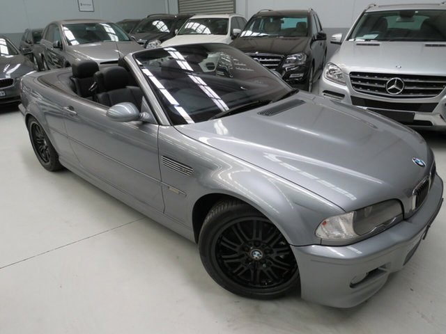 Used BMW M3 E46 MY2003 SMG, 2003 BMW M3 E46 MY2003 SMG Titanium Silver 6 Speed Seq Manual Auto-Clutch Convertible
