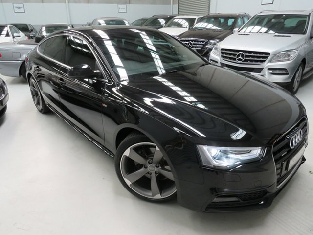 Used Audi A5 8T MY14 Sportback S Tronic Quattro, 2014 Audi A5 8T MY14 Sportback S Tronic Quattro Phantom Black 7 Speed Sports Automatic Dual Clutch
