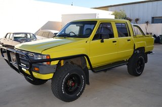 1985 Toyota Hilux LN65 (4x4) Yellow 5 Speed Manual 4x4 Dual Cab Pick-up.