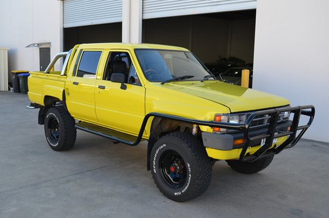 Used Toyota Hilux LN65 (4x4), 1985 Toyota Hilux LN65 (4x4) Yellow 5 Speed Manual 4x4 Dual Cab Pick-up