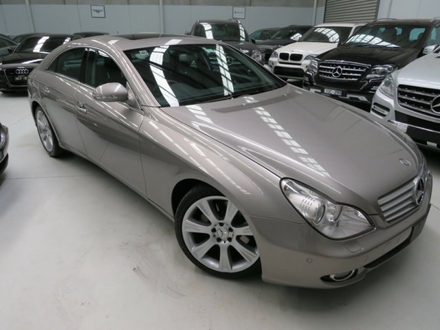 Used Mercedes-Benz CLS-Class C219 MY07 CLS350 Coupe, 2007 Mercedes-Benz CLS-Class C219 MY07 CLS350 Coupe Cubanite Silver 7 Speed Sports Automatic Sedan