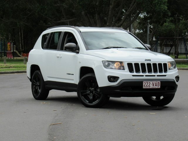 Used Jeep Compass MK MY14 Blackhawk CVT Auto Stick, 2014 Jeep Compass MK MY14 Blackhawk CVT Auto Stick White 6 Speed Constant Variable Wagon