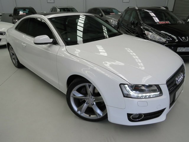 Used Audi A5 8T MY10 S Tronic Quattro, 2010 Audi A5 8T MY10 S Tronic Quattro White 7 Speed Sports Automatic Dual Clutch Coupe