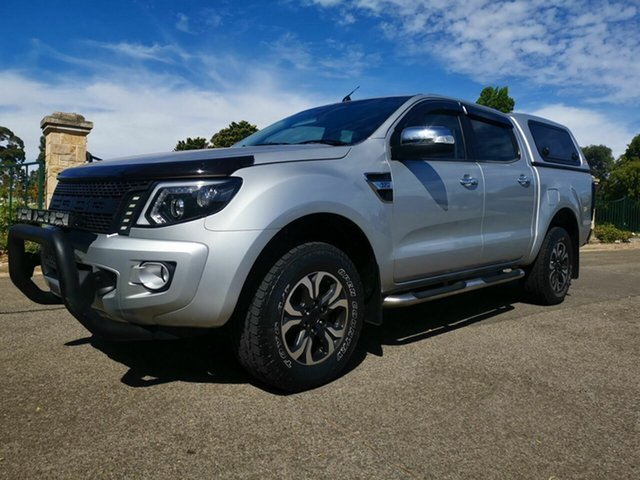 Used Ford Ranger PX XLT 3.2 Hi-Rider (4x2), 2012 Ford Ranger PX XLT 3.2 Hi-Rider (4x2) Silver 6 Speed Automatic Crew Cab Pickup
