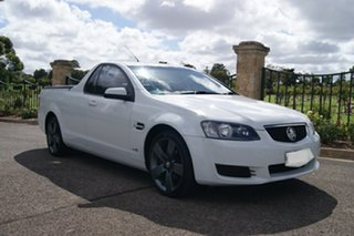 2011 Holden Commodore VE II MY12 Omega White 6 Speed Automatic Utility.