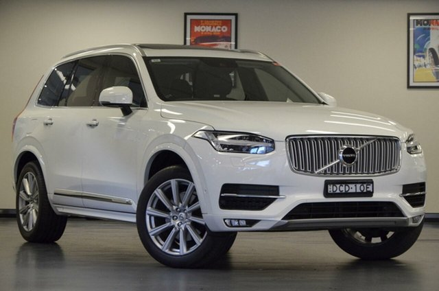 Used Volvo XC90 L Series MY16 T6 Geartronic AWD Inscription, 2015 Volvo XC90 L Series MY16 T6 Geartronic AWD Inscription White 8 Speed Sports Automatic Wagon