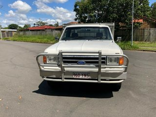 1990 Ford F250 (4x4) White 3 Speed Automatic 4x4 Cab Chassis