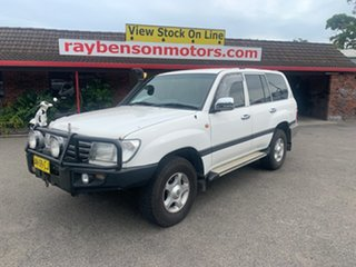 2002 Toyota Landcruiser 100SER GXL White 5 Speed Automatic Wagon.