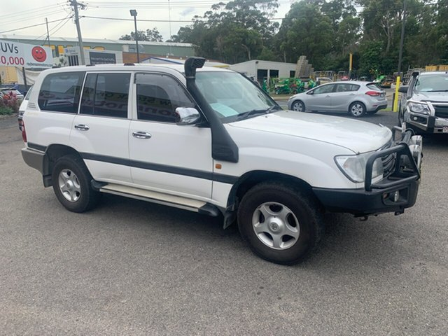 Used Toyota Landcruiser  GXL, 2002 Toyota Landcruiser 100SER GXL White 5 Speed Automatic Wagon
