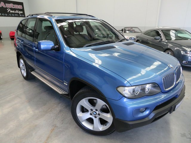 Used BMW X5 E53 MY05 d Steptronic, 2005 BMW X5 E53 MY05 d Steptronic Atlantis Blue 6 Speed Sports Automatic Wagon
