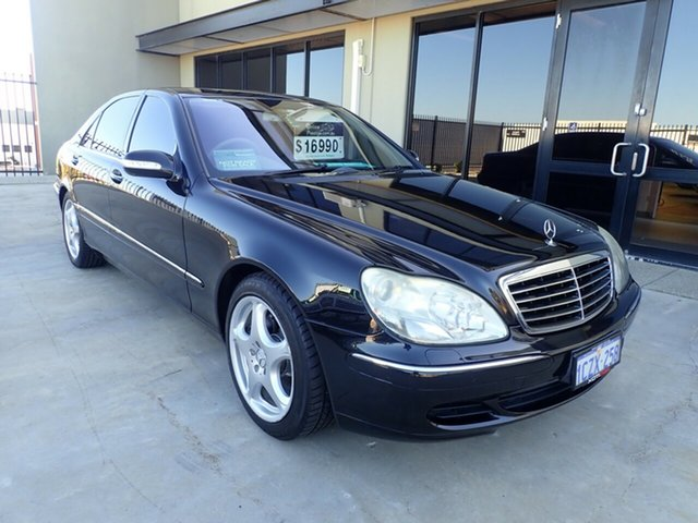 Used Mercedes-Benz S-Class V220 MY05 S430 L, 2005 Mercedes-Benz S-Class V220 MY05 S430 L Black Magic 7 Speed Sports Automatic Sedan