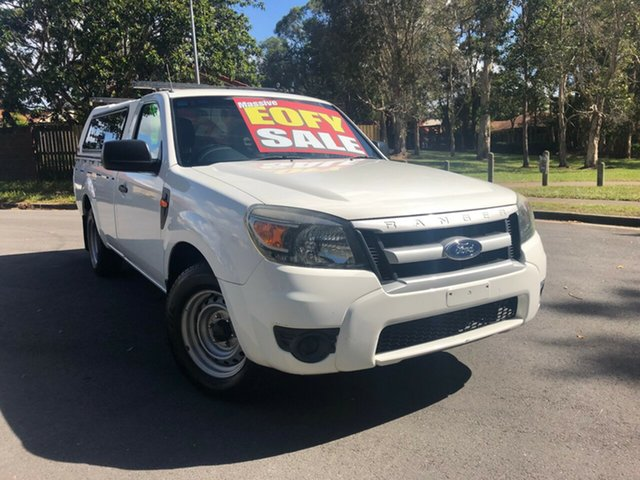 Used Ford Ranger PJ 07 Upgrade XL (4x2), 2009 Ford Ranger PJ 07 Upgrade XL (4x2) White 5 Speed Manual Cab Chassis