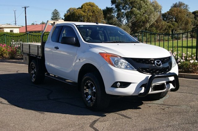 Used Mazda BT-50  XT Hi-Rider (4x2), 2012 Mazda BT-50 XT Hi-Rider (4x2) White 6 Speed Manual Freestyle Cab Chassis