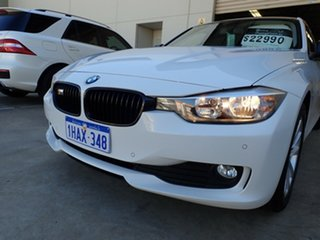 2012 BMW 3 Series F30 MY0812 320d White/Black Roof 8 Speed Sports Automatic Sedan.
