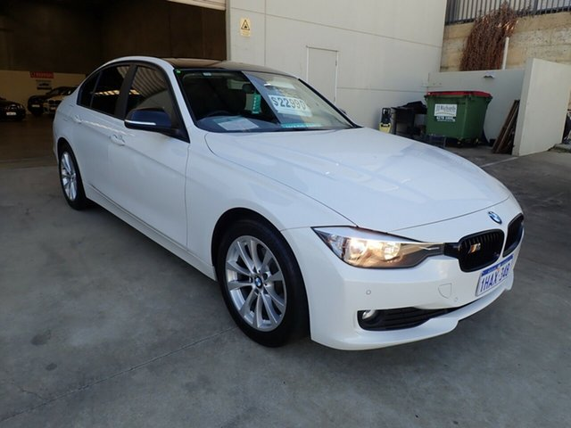 Used BMW 3 Series F30 MY0812 320d, 2012 BMW 3 Series F30 MY0812 320d White/Black Roof 8 Speed Sports Automatic Sedan
