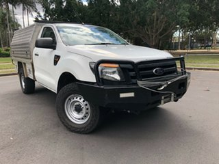 2013 Ford Ranger PX XL 2.2 (4x4) White 6 Speed Manual Cab Chassis.