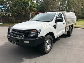 2013 Ford Ranger PX XL 2.2 (4x4) White 6 Speed Manual Cab Chassis