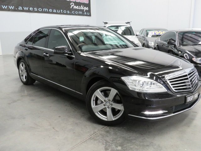Used Mercedes-Benz S-Class W221 MY10 S350, 2010 Mercedes-Benz S-Class W221 MY10 S350 Black Crystal 7 Speed Automatic Sedan