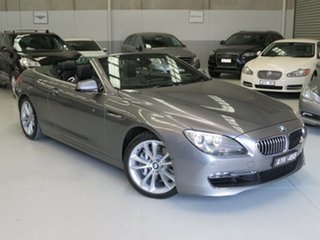 2013 BMW 640i F12 MY1112 Steptronic Meteorite Grey 8 Speed Sports Automatic Convertible.