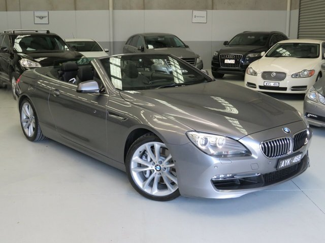 Used BMW 640i F12 MY1112 Steptronic, 2013 BMW 640i F12 MY1112 Steptronic Meteorite Grey 8 Speed Sports Automatic Convertible